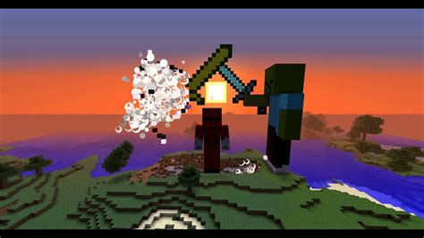 Minecraft Statue Goes Boom: Zombie vs Zombie Pigman - YouTube