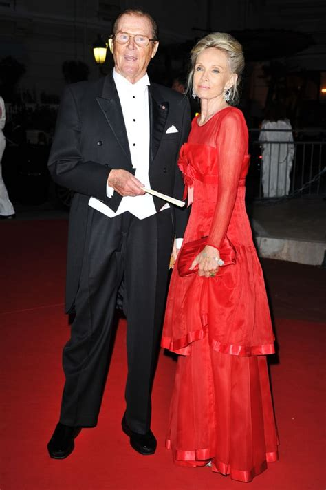 Sir Roger Moore and wife, Kristina Tholstrup, attended a