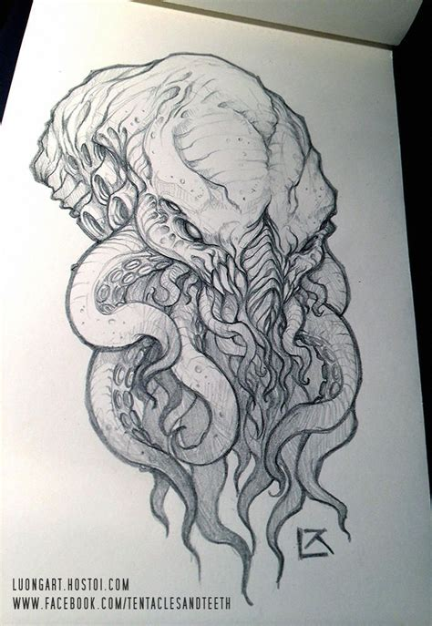 Cthulhu Comission 3 by TentaclesandTeeth | Rajzok