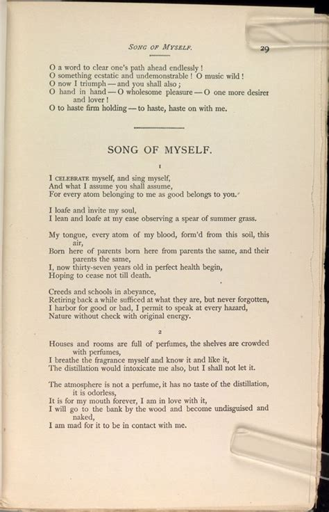 Song of Myself by Walt Whitman -- 1855