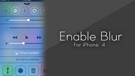 Enable iOS 7 Blur/Parallax On iPhone 4 / Unsupported