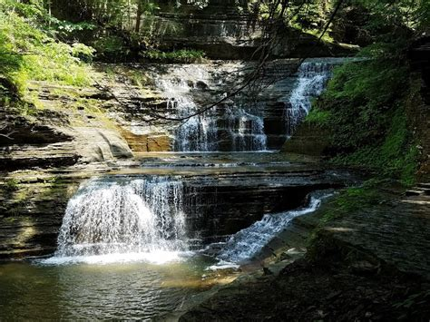 Buttermilk Falls State Park- Ithaca, New York - Parks and