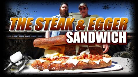 The Steak & Egger Sandwich - Epic Meal Time w/ Arnold