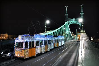 Christmas Light Trams in Budapest 2017, Timetable and Route