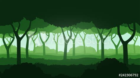 Seamless forest landscape