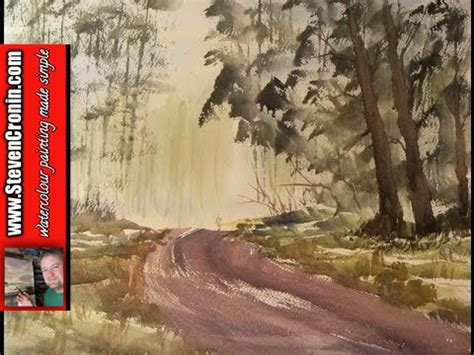 Watercolour painting demo of a walk in the woods - YouTube