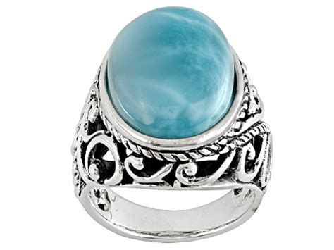 Pre-Owned Blue Larimar Sterling Silver Ring - PRM1161