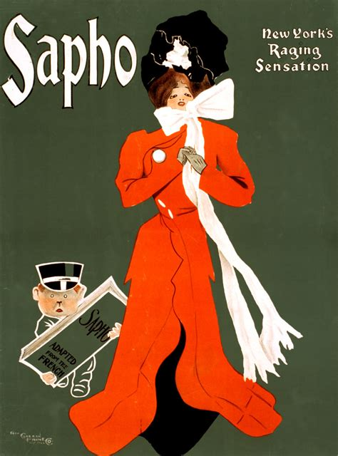 Sapho, New York's raging sensation, Broadway poster, 1900