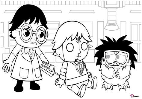 Ryan's world cartoon coloring pages - BubaKids