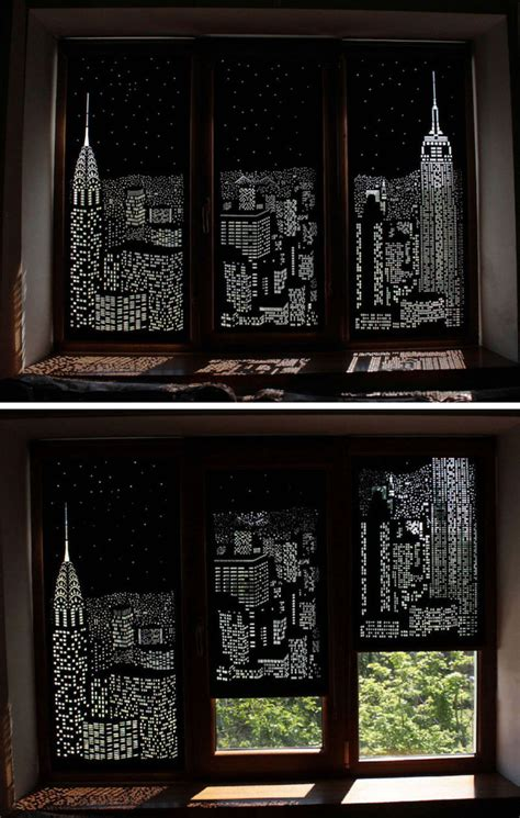 These Blackout Blinds Provide A City View When Closed