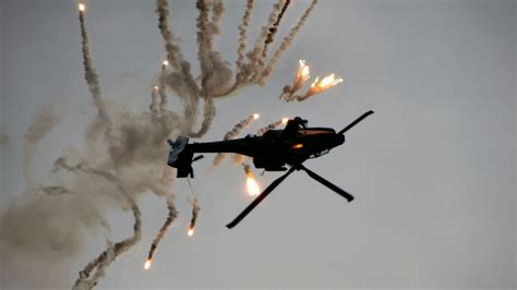 Dutch Apache on the roll with flares HD Wallpaper