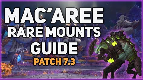 How To Obtain The Rare Mounts On Mac'Aree - YouTube