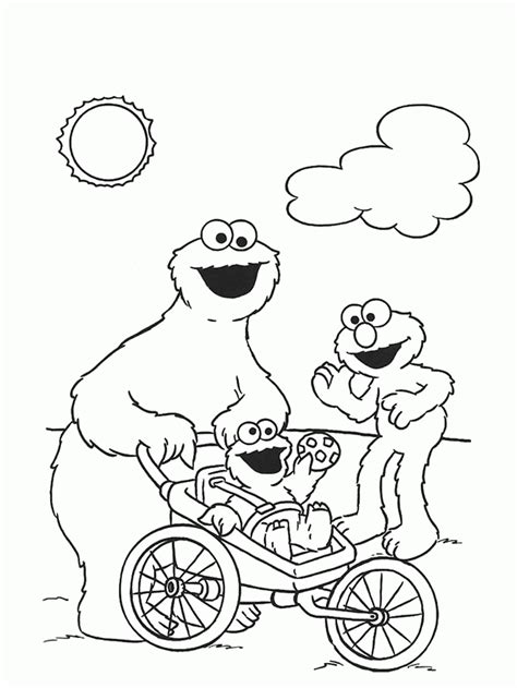 Printable Coloring Pages Of The Cookie Monster - Coloring Home