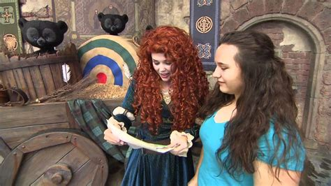 Merida Meet and Greet at Disney World from Disney Pixar's