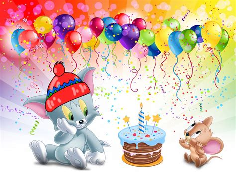 Tom-And-Jerry-first-birthday-cake-Desktop-HD-Wallpaper-for