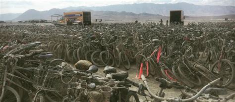 Over 5,000 Bicycles Left Abandoned After Burning Man