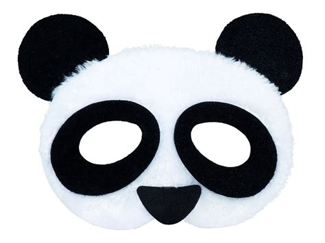 Panda Mask Half Face Plush - Party Superstores